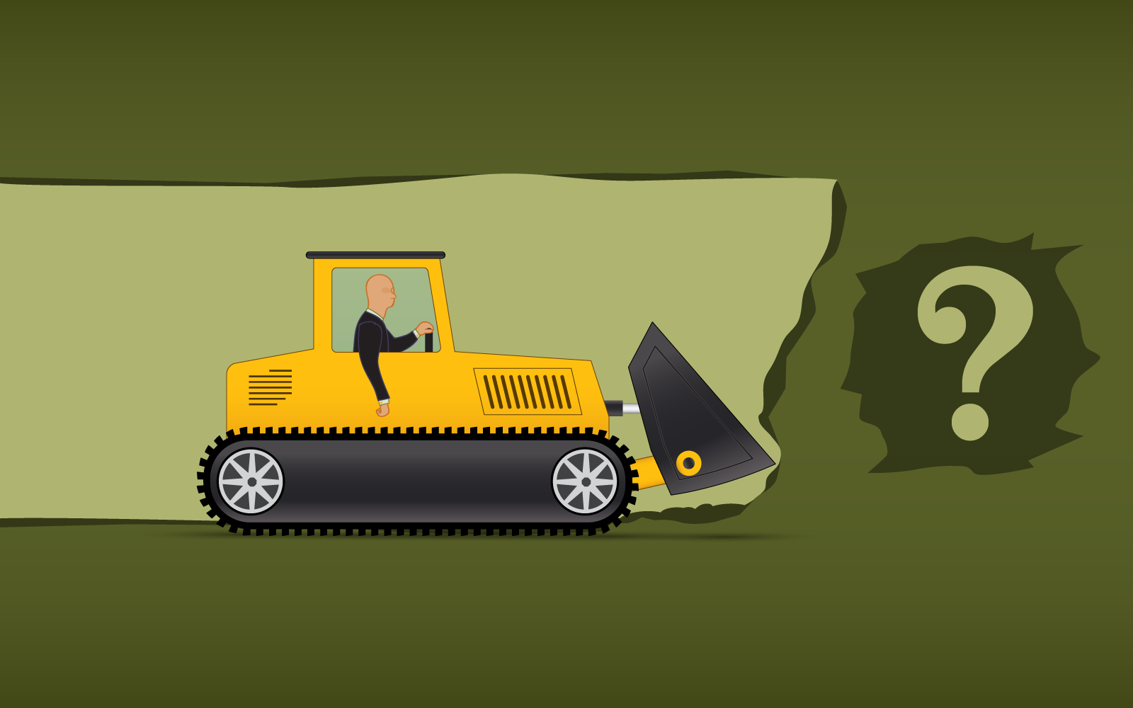 man in bulldozer truck